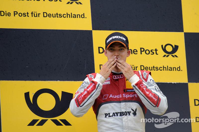 Podium: race winner Edoardo Mortara, Audi Sport Team Rosberg