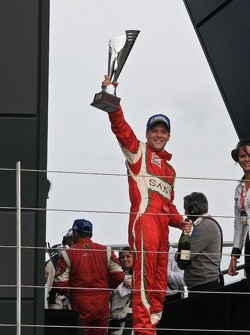 Matt Griffin looks very happy with his trophy