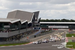 The start of the 2012 FIA World Endurance Championship race at Silverstone