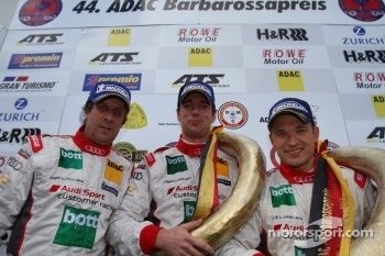 Podium: race winners Frank Biela, Christian Hohenadel, Thomas Mutsch