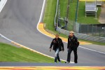 Sebastian Vettel, Red Bull Racing walks the circuit and climbs Eau Rouge with Heikki Huovinen, Personal Trainer