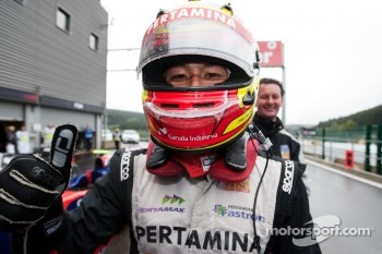 Pole winner Rio Haryanto