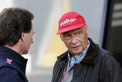 Christian Horner, Red Bull Racing Team Principal with Niki Lauda