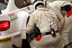 BMW Team RLL crew members at work