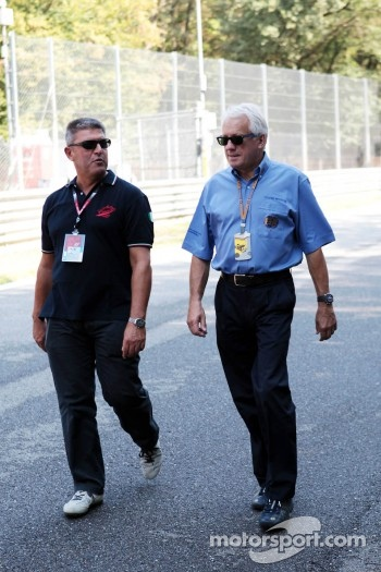 Charlie Whiting, FIA Delegate, walks the circuit