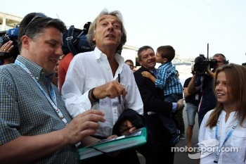 Luca di Montezemolo, Ferrari President signs autographs for the fans