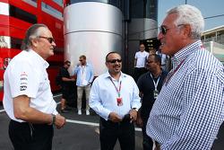 Manseur Ojeh, McLaren shareholder, with Piero Lardi Ferrari, Ferrari Vice-President
