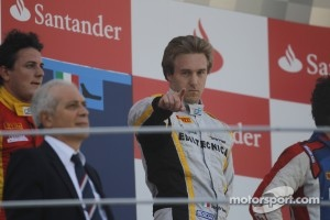 Podium: race winner Davide Valsecchi