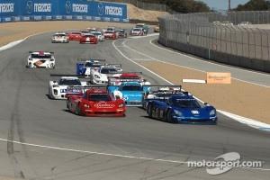 Start of Grand-Am Rolex Series race at Mazda Raceway Laguna Seca