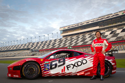 #69 AIM Autosport Team FXDD Racing with Ferrari Ferrari 458: Anthony Lazzaro