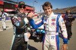 Indy Lights series title contenders Esteban Guerrieri, Sam Schmidt Motorsports and Tristan Vautier, Sam Schmidt Motorsports pose before the race