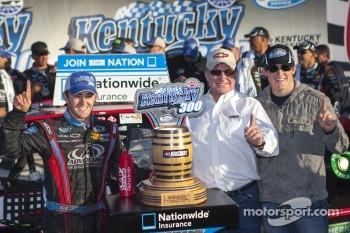 Victory lane: race winner Austin Dillon