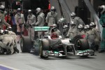Michael Schumacher, Mercedes AMG F1 makes a pit stop