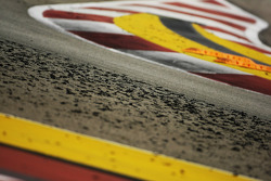 Tyre marbles on the circuit