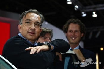 Sergio Marchionne, CEO Fiat Group with John Elkann, Fiat President