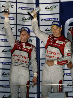 Overall podium: second place Tom Kristensen, Allan McNish