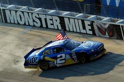 Winner Brad Keselowski, Penske Racing Dodge celebrates