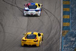 #59 Ferrari of Ft Lauderdale 458CS: Maurizio Scala, #87 Ferrari of San Diego 458CS: Rich Baek