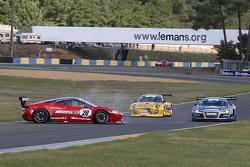 Spin for #20 Sofrev ASP Ferrari 458 Italia: Jean-Luc Beaubelique; Ludovic Badey