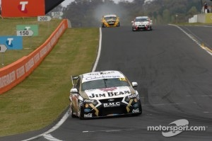 Dean Fiore leads DJR Jim Beam teammate Steven Johnson at Bathurst 1000