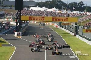 Start of Japanese Grand Prix at Suzuka, 2012