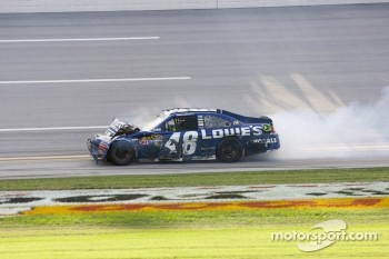 Jimmie Johnson, Hendrick Motorsports Chevrolet limps to the finish