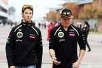 Romain Grosjean, Lotus F1 Team with Kimi Raikkonen, Lotus F1 Team