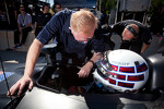 Johnny O'Connell tests the #0 Nissan DeltaWing Project 56 Nissan talks with Don Panoz