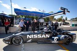 Johnny O'Connell tests the #0 Nissan DeltaWing Project 56 Nissan