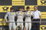 Podium: second place Gary Paffett, Team HWA AMG Mercedes, AMG Mercedes C-Coupe, winner and 2012 champion Bruno Spengler, BMW Team Schnitzer BMW M3 DTM, third place Augusto Farfus Jr., BMW Team RBM BMW M3 DTM, Charly Lamm, Teammanager BMW Team Schnitzer