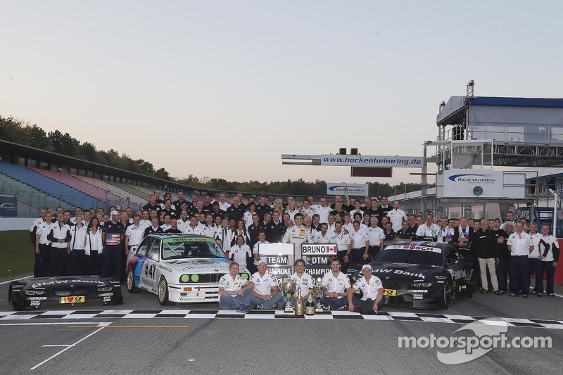 BMW Motorsport celebrate the championships with Bruno Spengler, BMW Team Schnitzer BMW M3 DTM