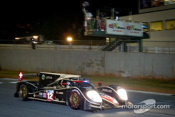 #12 Rebellion Racing Lola B12/60 Toyota: Andrea Belicchi, Neel Jani, Nicolas Prost takes the checkered flag