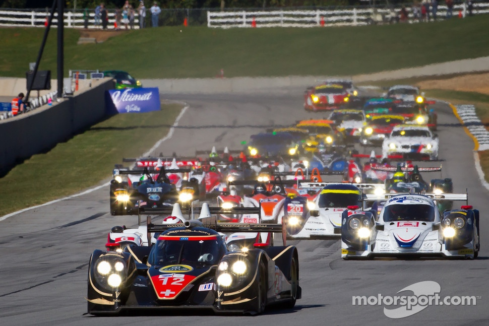 Start: #12 Rebellion Racing Lola B12/60 Toyota: Andrea Belicchi, Neel Jani, Nicolas Prost leads the field