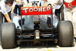 McLaren rear diffuser and rear wing detail