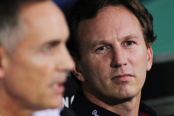 Martin Whitmarsh, McLaren Chief Executive Officer and Christian Horner, Red Bull Racing Team Principal in the FIA Press Conference