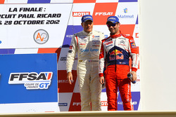 Podium: third place Gilles Vannelet and Sébastien Loeb