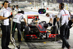 Lewis Hamilton, McLaren in the pits