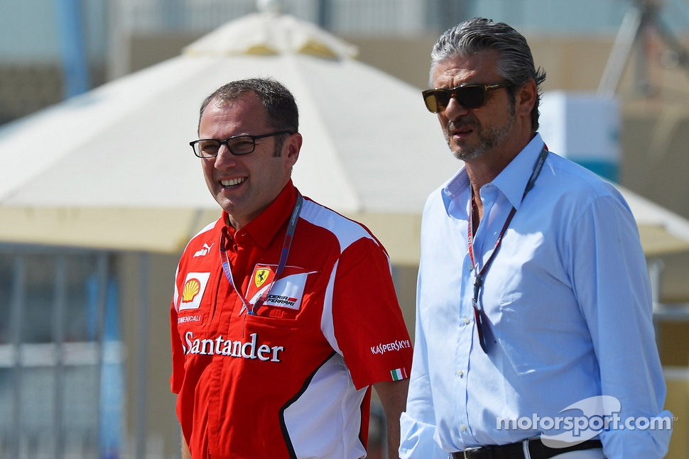 Stefano Domenicali, Ferrari General Director with Maurizio Arrivabene, Marlboro Europe Brand Manager