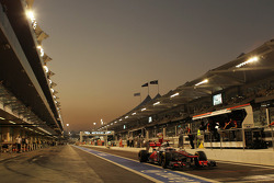Jenson Button, McLaren leaves the pits