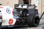 Sauber rear wing detail