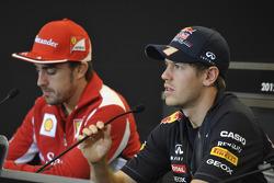 Fernando Alonso, Scuderia Ferrari, Sebastian Vettel, Red Bull Racing