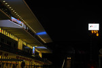 Pit lane at night