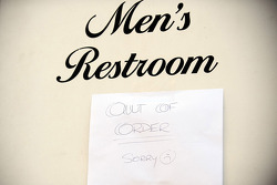 Men's toilet out of order