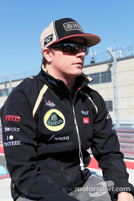 Kimi Raikkonen, Lotus F1 Team on the drivers parade