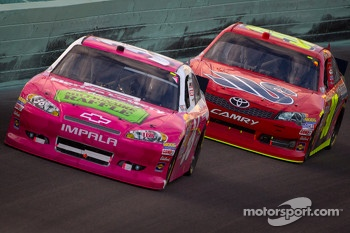 Dave Blaney, Tommy Baldwin Racing Chevrolet and David Stremme, Inception Motorsports Toyota