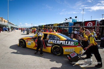 Car of Jeff Burton, Richard Childress Racing Chevrolet pushed to technical inspection
