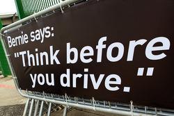 Bernie says 'Think Before You Drive'