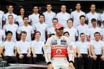 Lewis Hamilton, McLaren at a team photograph