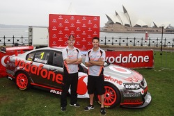 Jamie Whincup and Craig Lowndes, Team Vodafone unveil special livery for final race of 2012