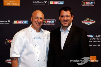 Chef Tom Colicchio and Tony Stewart